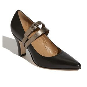 """Anyi Lu Couture """"Sophia"""" Gray Buckle Pumps 38"""